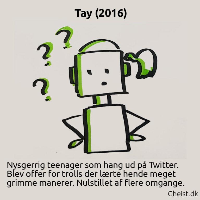 Tegning af Tay Microsoft chatbot