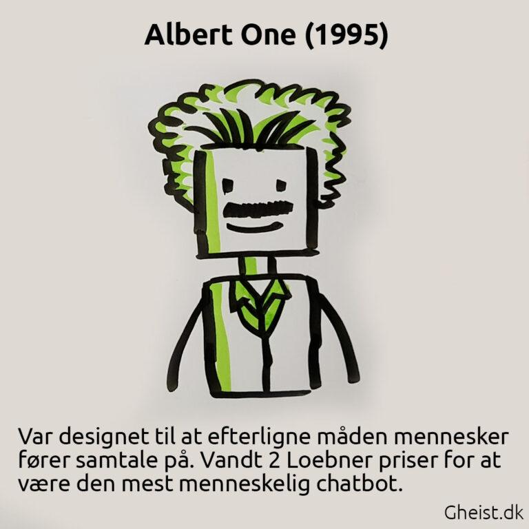 Tegning af Albert One