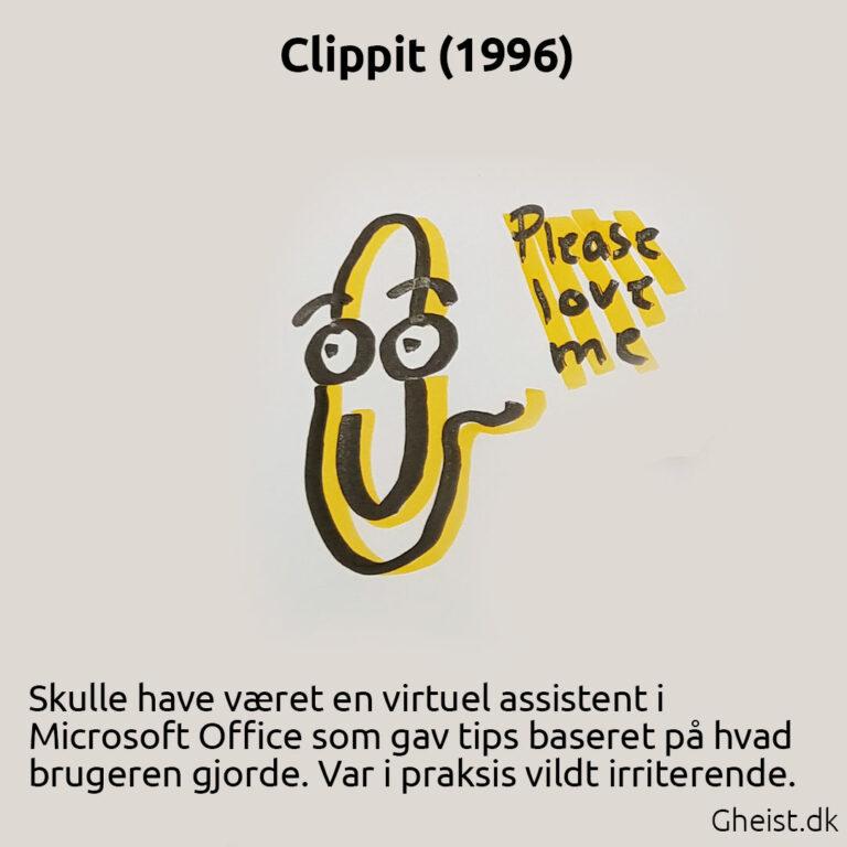 Tegning af Clippit