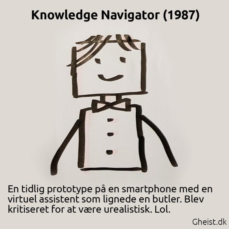 Tegning af Knowledge Navigator