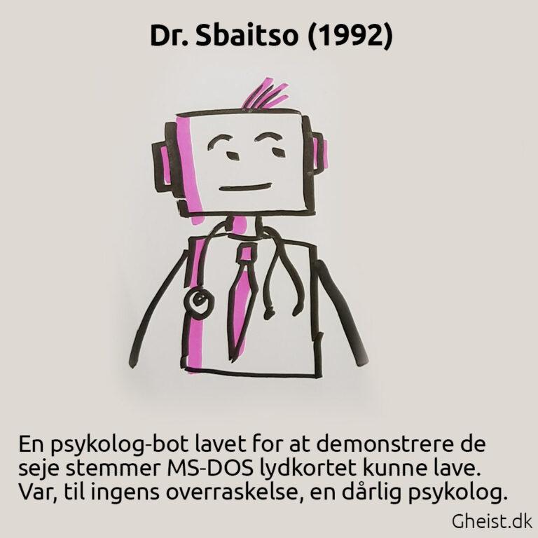 Tegning af Dr. Sbaitso