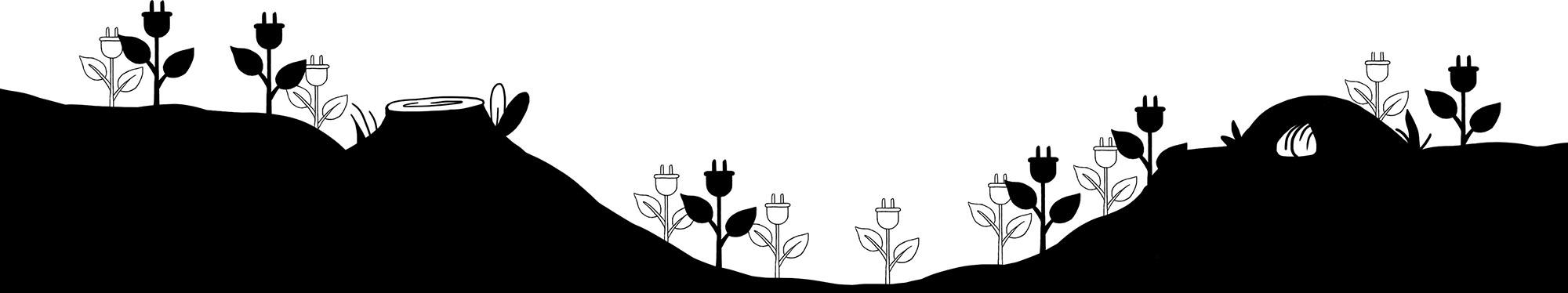 blomster firmet som strøm stik
