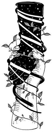 to hænder omgivet af planter