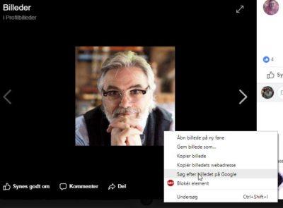Profilbillede på falsk Facebook profil