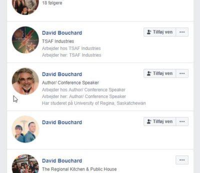 Søg efter folk på facebook
