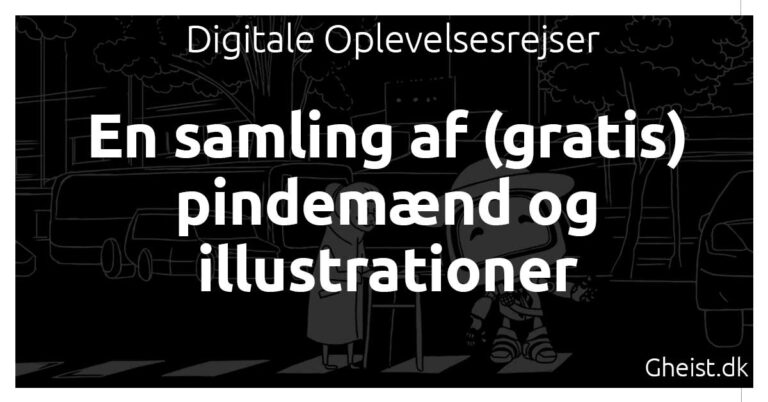 En samling af (gratis) pindemænd og illustrationer